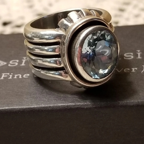 Silpada Sterling Silver Topaz Ring
